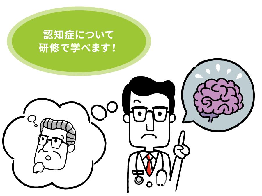 医師が脳内の悪化を説明するイラスト